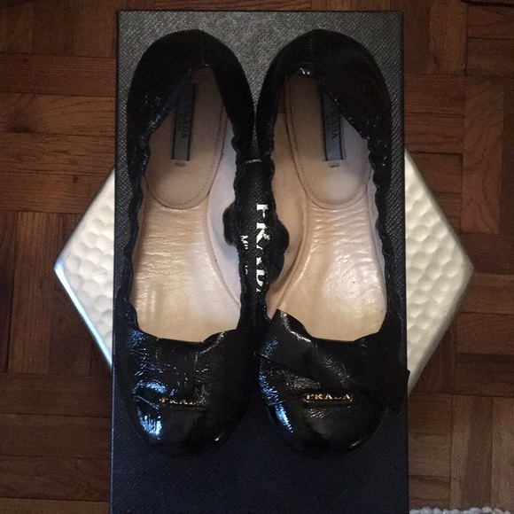 a6f9ee0f26 Prada Shoes | Ballet Flat With Bow | Poshmark